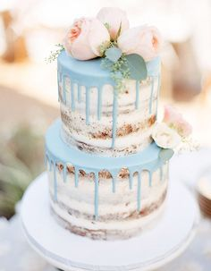 All The Wedding Cake Inspiration You'll Need In 2018 - Wilkie: Drip cakes are the wedding cake every frosting lover needs!