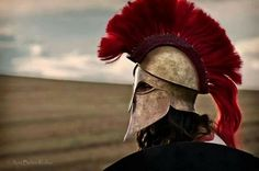 The Greek , Corinthian type helmet was made from one sheet of solid brass...