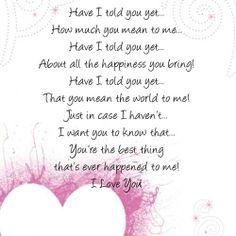i love loving you poem