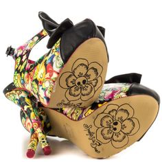 IRON-FIST-OVER-THE-RAINBOW-FLOWERS-BOW-TIE-PLATFORM-HEELS-PUNK-SHOES-SIZE-7-10