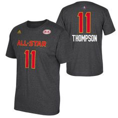 Golden State Warriors adidas 2017 NBA All-Star Klay Thompson #11 Western Conference Gametime Player Tee - Grey
