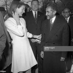 Kennedy greets Emperor Haile Selassie outside her elegant Fifth Avenue apartment house here February The Emperor of Ethiopia, concluding a state visit to America, paid a Get premium, high resolution news photos at Getty Images Black History Facts, Us History, African American History, Haile Selassie Quotes, Photographs Of People, Vintage Photographs, Vintage Photos, Underwater Photos, Underwater Photography