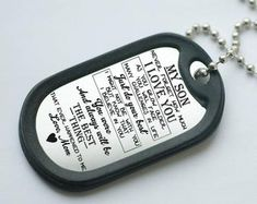 Gifts with fast delivery in the USA. Dog tag, keyring by FastDeliveryUSA Gifts For Boys, Gifts For Him, Son Poems, Army Dogs, Do Your Best, Pictures To Draw, Family Gifts, Boy Birthday, Dog Tags