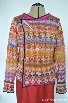 Like the pattern but the colors are well....Van Annas hand: Argyle vest - de laatste loodjes Jacke - Cardigan