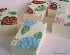 Using soap to paint on soap.