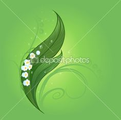 Magic lily of the valley by Nelli Valova - Stock Vector