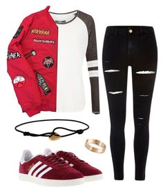 """""""#No name"""" by eemaj ❤ liked on Polyvore featuring Superdry, River Island, adidas and Cartier"""