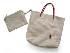 Sew a tote bag with leather handles. Photo Tutorial
