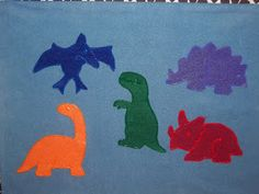What is Bridget Reading?: #FlannelFriday: Five Dinosaurs