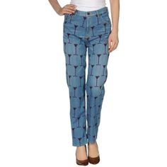 House Of Holland Denim Trousers found on Polyvore