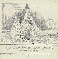 J.R.R. Tolkien's Little-Known Original Drawings for the First Edition of The Hobbit
