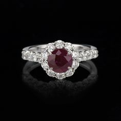 Ruby Ring with Diamonds