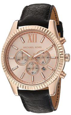 cb29b8f811dc Michael Kors MK8516 Lexington Leather Chronograph Mens Watch 44 Mm for sale  online