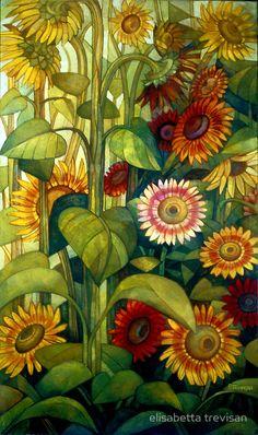 Sunflowers © Elizabeth Trevisan from Art Scroll    List of Russian artists. Kondakov S.n. Republication in modern orthography. From publishers antik.msk.ru