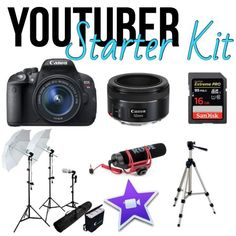 Some other things to get you started. These aren't cheap but some necessary things you'd need to get the content you want for your channel. Youtube Hacks, Youtube Setup, You Youtube, Youtube Logo, Marketing Software, Marketing Tools, Marketing Digital, Marketing Ideas, Content Marketing