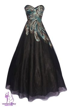 Plus size ball gowns 2014 peacock feathers prom dresses 2014