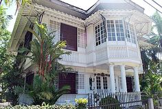 This kind of exterior. Very classic, very vintage. Filipino Architecture, Philippine Architecture, Filipino House, Philippine Houses, Bamboo House, Amazing Houses, Church Building, Philippines, Beach House
