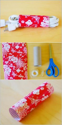 DIY TP Roll Cord Holder