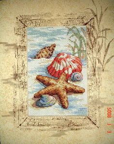 """Embroidered Picture """"nautical theme""""."""