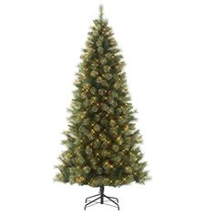 Cashmere Pine Christmas Tree Jaclyn Smith 7' Pre-Lit Clear Light Clearwater Slim -- Read more at the image link. (This is an affiliate link)