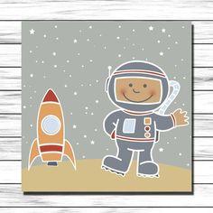 Cuadro infantil Astronauta para decoración en habitación niños y bebés