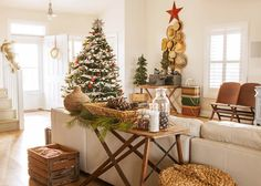 Bring in the cozy & comfy vibe in your holiday home decor. Here are the best Farmhouse Christmas decorations, which are country style Rustic Christmas decor Western Christmas, Elegant Christmas, Modern Christmas, Christmas Home, Christmas Interiors, Christmas Ideas, Homemade Christmas, Christmas Ornaments, Christmas Inspiration