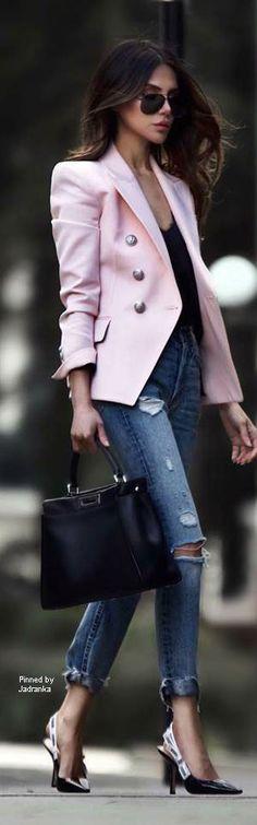Denim Fashion, Street Fashion, Poncho Sweater, City Girl, Blazer Jacket, Autumn Winter Fashion, Casual Wear, Vip, Blue Jeans