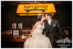 Saint Arnold isn't just a place to drink beer...you can get married there, too! Leah and Aaron used Saint Arnold Brewery as a wedding venue and it was just perfect. Fun fact: we had our own wedding reception at Saint Arnold, too!
