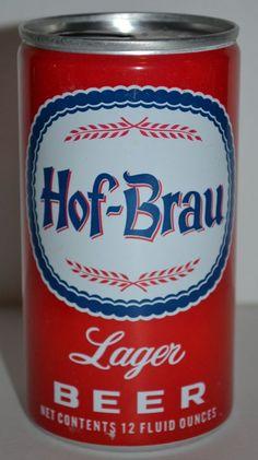 59f5d9ae94b Hof-Brau Lager Pull Tab Beer Can Aluminum 12 Fluid Ounces Falstaff Brewing  Corp