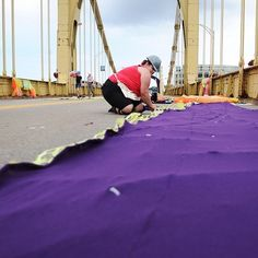 16 Instagrams From Pittsburgh's Knit The Bridge Project Install