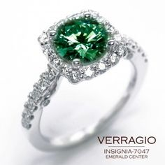 What a beautiful emerald ring.
