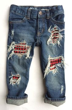 Buffalo Rad Jeans unisex distressed denim by DudleyDenim on Etsy