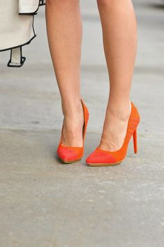 fiery orange shoes v