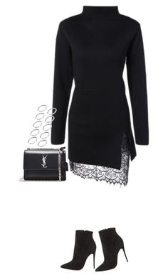 """""""Sem título #1389"""" by oh-its-anna ❤ liked on Polyvore featuring Christian Louboutin, Yves Saint Laurent and ASOS"""