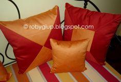 Cuscini rivestiti di tessuto, coordinati con il divano - RobyGiup handmade #sewing #home #forniture #DIY