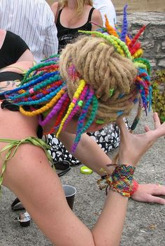 Wool Roving Dreads....that is fun