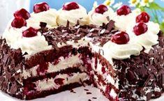 Очень вкусный торт с вишней и взбитыми сливками. - СУПЕР ШЕФ