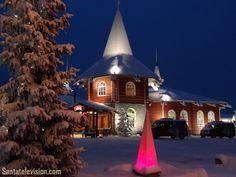 Casa de Navidad en el Pueblo de Papá Noel en Rovaniemi, Laponia, Finlandia