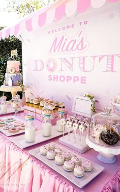 Look at this donut board filled with donuts. Yes, please.