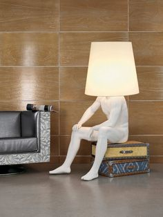 Home-Design-Improvement-with-Floor-Lamp-Ideas. Guy statue as a lamp Weird Furniture, Unique Furniture, Furniture Ideas, Furniture Update, Furniture Websites, Furniture Dolly, Furniture Online, Plywood Furniture, Furniture Inspiration
