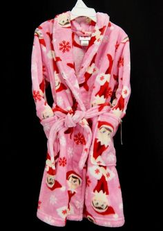 Details about Elf on the Shelf Footed Girls Christmas Pajamas Size ...