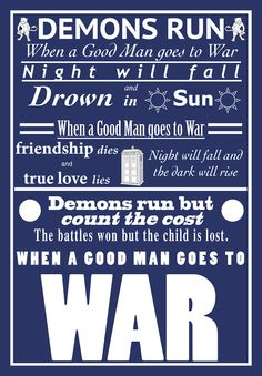 Doctor Who: A good man goes to war Nerd Love, My Love, Doctor Who Quotes, Man Go, Don't Blink, Time Lords, Geek Out, Dr Who, Superwholock
