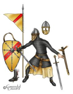 Sicilian Norman Knight who conquer the the region of Antioch from the Turks. Medieval Knight, Medieval Armor, Dark Ages, Norman Knight, Renaissance Time, Norman Conquest, Armadura Medieval, Early Middle Ages, Norse Vikings