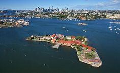 SYDNEY'S ISLANDS Spectacle Island - small Harbour Island named because of its spectacular shape – 2 small islands joined by a narrow peninsula. First used in 1865 as a storage site for gunpowder. The Royal Australian Navy took over in 1913 and the island was used for shell-filling and munitions storage during the war and later a Naval Repository. The island is a naval base - not open to the public - but historical items are at the Naval Heritage Centre, Garden Island.