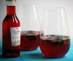 Strawberry Mint Red Moscato Sangria for #SundaySupper