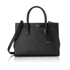 Shape your style with this luxurious accessory, cut from crosshatched leather. kate spade new york's signature design is finished with gold-tone hardware.