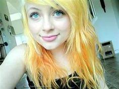 yellow/orange hair color