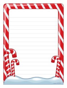 Candy Canes — fun paper is a great incentive for student writing