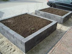 raised garden beds from simple blocks