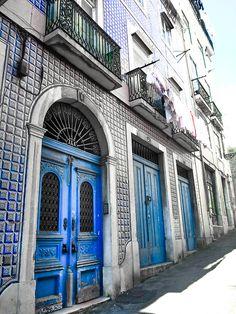 Tiled facades in Lisbon, Portugal